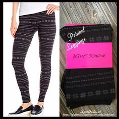 "BETSEY JOHNSON LEGGINGS BLACK PRINT Leggings  NEW WITH TAGS    BETSEY JOHNSON LEGGINGS BLACK PRINT Leggings * Incredibly comfortable & high quality  * Banded wide waistband and fitted leg * Elasticized waist lays flat  * Approx. 9"" rise & 28"" length for size S/M * Stretch-To-Fit Style; Plush fleece line w/an allover print Fabric: 90% polyester & 10% Spandex  Color: Black  Print Tagged size S/M-fits approx 5'-5'5"" & 90-140lbs  No Trades ✅ Offers Considered*✅  *Please use the blue 'offer'…"