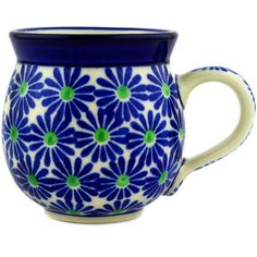 $26. Polish Pottery 12 oz Bubble Mug | Boleslawiec Stoneware | Polmedia H1391D | Polmedia