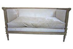 One Kings Lane - First Impressions - Upholstered Velvet Settee