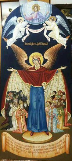 αγιογραφία Religious Images, Religious Icons, Religious Art, Byzantine Icons, Byzantine Art, Religion, Symbolic Art, Russian Icons, Religious Paintings
