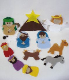 Decorative Felt Nativity Christmas