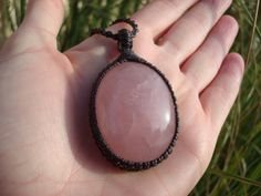 Rose Quartz Pendant/Soothing/Compassion/Heart by GaiasGiftsToUs