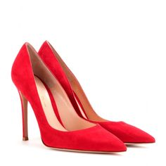 Gianvito Rossi Suede pumps seen @ www.mytheresa.com