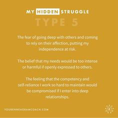 Type as you reflect on the struggle you hide, I pray you'll use the knowledge to put your trust and dependence on Christ, the One who… Type 5 Enneagram, Enneagram Test, Mbti, Infj, Introvert, Intj Personality, E Type, Pray, Self