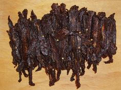 The Best Teriyaki Beef Jerky from Food.com: I am a beef jerky lover. I noticed that Recipezaar does not have too many choices and when I look for ones using Google, it is overwhelming to find one out of millions.....So I decided to create my own and let me tell you...this is the best jerky I have ever had and am glad I can share it with all of you. Plus, this was made in a conventional oven! Please let me know your thoughts by commenting after you make it. Thank you.