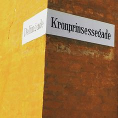 Street signs in Copenhagen on a sunny day. Good & creative inspiration for our new projects at www.hjemhavn.com  #hjemhavn #ocean #sea #sailing #denmark
