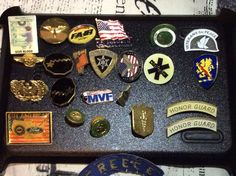 Lot Of Army Air Force Armed Forces Pins Brooch And Patch