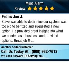 Steve was able to determine our system was too old to be fixed and suggested a new option.... www.MijacAlarm.com