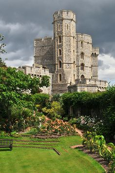 Windsor Castle And Moat, London, England