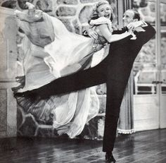 """Fred Astaire & Ginger Rogers in """"Carefree"""""""