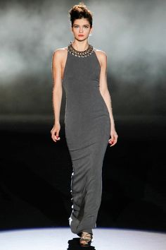 Beautiful long grey dress, so elegant a must get! #TopShopPromQueen