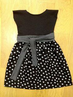 Robe noire 'Etoiles' bébé fille : Mode Bébé par ewkadress