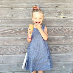 She chose the purple marionberry ice cream and loved it! Can you tell?! :)