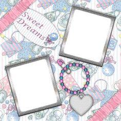 Sweet Dreams Digital Scrapbook Quick Page - 5x5