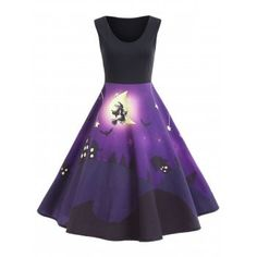 SHARE & Get it FREE | Halloween Bat Castle Vintage A Line DressFor Fashion Lovers only:80,000+ Items·FREE SHIPPING Join Dresslily: Get YOUR $50 NOW!