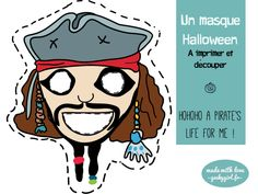 DIY A pirate's day for me… pour un Halloween last minute | SAPRISTIPOPETTE Un masque de Jack le pirate à imprimer et découper : une idée de déguisement ultra rapide de dernière minute
