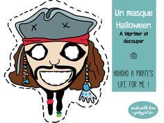 DIY A pirate's day for me… pour un Halloween last minute | SAPRISTIPOPETTE Un masque de Jack le pirate à imprimer et découper : une idée de déguisement ultra rapide de dernière minute