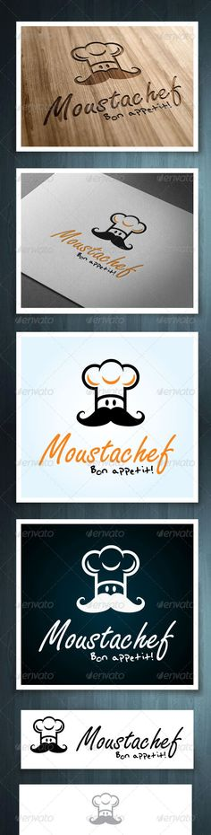 Moustachef #GraphicRiver Moustachef is a multipurpose logo, can be used in any companies related to food, cooking, baking. Ideal for restaurants, and fast food companies. Ai & EPS 10 CMYK 100% vector Easy to edit color and text Font name, and link included in the info file. Created: 25June13 GraphicsFilesIncluded: VectorEPS #AIIllustrator Layered: No MinimumAdobeCSVersion: CS Resolution: Resizable Tags: bar #bistro #breakfast #catering #chef #cook #delivery #dinner #eat #fastfood #food…
