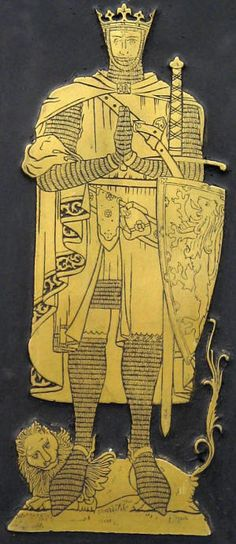 Reproduction brassrubbings, for sale, in the USA. Pic = Sir Robert the Bruce brass (no provenance)