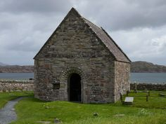 St Oran's Chapel, built in the 12th century. Iona, Scotland