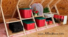 No attic floor? No access? Tap into extra storage space with these helpful products.