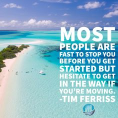 Most people are fast to stop you before you get started but hesitate to get in the way if you're moving.  #FridayFeeling #Motivation