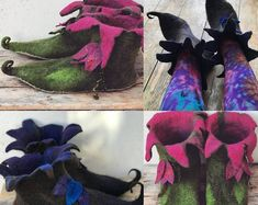 Elf Costume, Cosplay Costumes, Grinch Costumes, Elf Slippers, Felted Slippers, Pixie, Larp, Fairy Shoes, Elf Shoes
