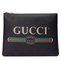 Gucci Print leather medium portfolio Detail 5