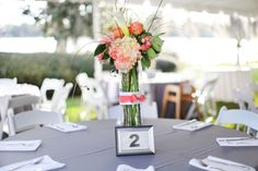 Modern Elegant Coral and Gray Wedding