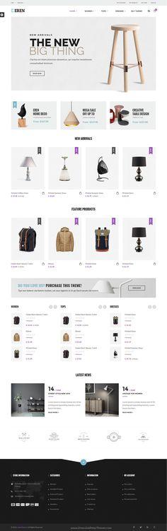 Eren is a wonderful 6 in 1 #Prestashop theme with advanced admin module for multipurpose #decor #shop eCommerce website download now➝ https://themeforest.net/item/eren-responsive-prestashop-theme/16811353?ref=Datasata