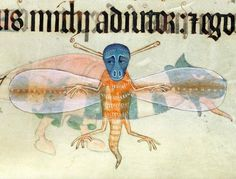 Dragon-fly. Luttrell Psalter, England ca. 1325-1340.