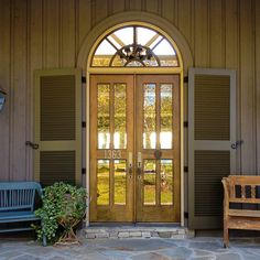 Mustache hinges on French doors | Accessories - Hardware ...
