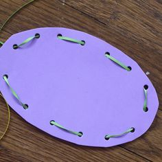 Lacing Easter Egg Card Activity