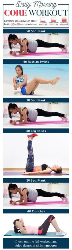 Daily Morning Core Workout Routine With Video Tutorials – Toned Chick