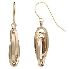 Crafted with 10 karat yellow gold, this pair of drop earrings features a high polish finish. This earring set is a great addition to your wardrobe.