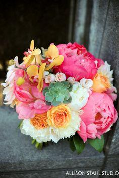 peonies, orchids, roses, succulents  Flourish Designs
