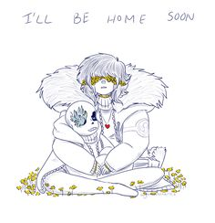 (Gummie's Art Blog) FlowerTale & FlowerFell both being really beautiful and sad.