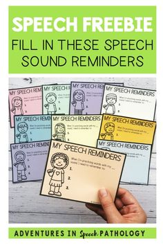 Are you looking for speech reminder cards to write down and give cues to your students? These free notes can be given to teachers and parents to help a student remember how to say their speech sounds correctly. Speech Pathology, Speech Therapy, Write It Down, Parents, Students, Teacher, Notes, Activities, Writing