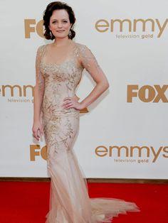 Elisabeth Moss arrives at the 63rd Primetime Emmy Awards on Sunday, Sept. 18, 2011 in Los Angeles