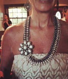 Grand Entrance necklace and bracelet linked together and Posy enhancer added! Rocking #pdcombo