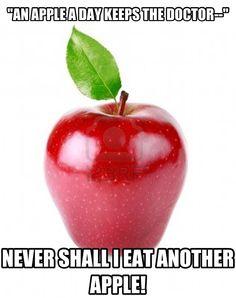 """Apples are rubbish!""  #doctorwho #haha #mattsmith"