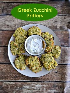 I don't know about you but I have an abundance of zucchini and I'm tired of zucchini bread! Change it up and make these delicious Greek Zucchini Fritters instead!#zucchini #meatless #sidedish   Side DIsh Recipes   ZUcchini Recipes   Greek Recipes   Appetizer Recipes Supper Recipes, Side Dish Recipes, Greek Appetizers, Appetizer Recipes, Snack Recipes, Snacks, Greek Dishes, Side Dishes, Chicken Zoodle Soup