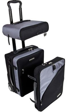 Balanzza TRUCO Travel Utility CarryOn - is based on 3 strategically  designed baggage pieces that become  a full size carry-on when stacked together.