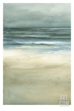 Tranquil Sea I Stretched Canvas Print by Jennifer Goldberger at Art.com