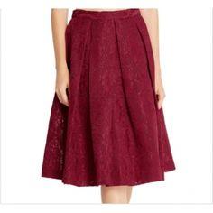 Burgundy Lace Skirt