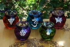 Gorgeous Honey Heartwood #resin #pots #wicca #pagan #spiritual #craft #findings  Available in US www.whitemagickalchemy.com