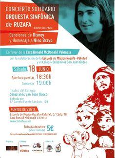 Concierto Solidario a favor de la Casa Ronald de Valencia - http://www.valenciablog.com/concierto-solidario-a-favor-de-la-casa-ronald-de-valencia/