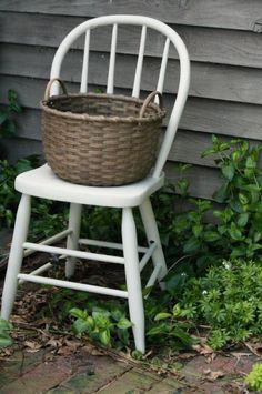 Love the old chair & basket combination!!!