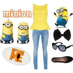 "Despicable Me Minion dress up like a minion for your kid's ""despicable Me"" party. 1 in a minion"