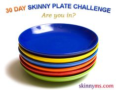 A new month is right around the corner!  Try the 30-day Skinny Plate Challenge!  #skinnyms #challenges